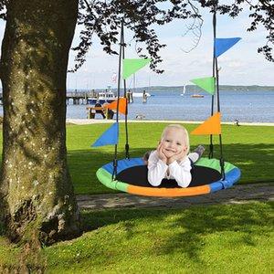 """EU Stock 40 """"Kids ao ar livre redondo redondo pendurado corda ninho árvore balanço crianças pátio brinquedos"""