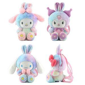40cm transformation cat melody plush doll children backpacks cute girl heart cross-body bag travel bags 496