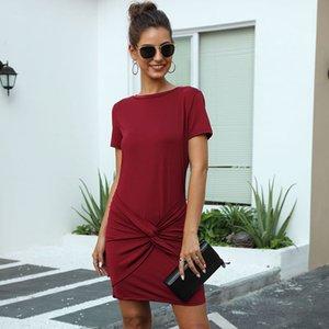 Verão A-Line acima do joelho, mini short o-pescoço streetwear sólido sashes natural vestidos msfilia
