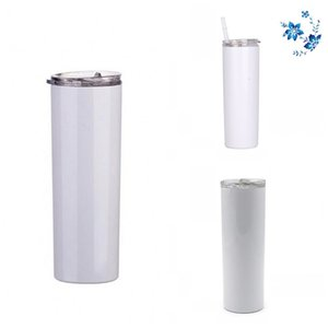 20oz 600ml Straight Skinny Tumblers Stainless Steel Sublimation Blanks rinks Water Cups Plastic Snore Piece Mugs Living Room Accessory N2