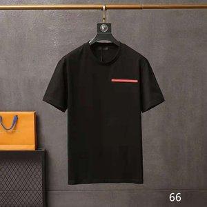 2021Luxury Designer T рубашка мужская шея весенняя летняя буква свободная тенденция с коротким рукавом мужская одежда