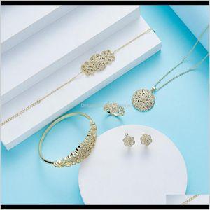 Einstellungen Drop Lieferung 2021 Sep Moroan Caftan Hochzeit für Frauen Design Gold Modeschmuck Set 201224 N0v1g
