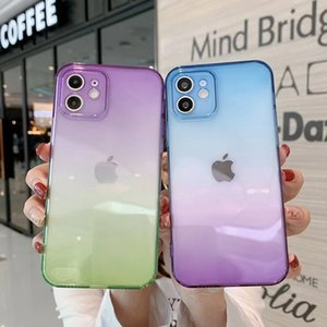 Gradient Colors Clear Cases For iPhone 13 Pro Max iPhone 12 Mini 11 Pro Max XS 8 7 Plus