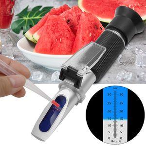 Tools Handheld refractometer sugar Wine concentration meter densimeter alcohol beer 0-32% Brix grapes ATC