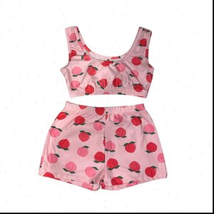 Womens Romper Women Sexy Bodycon Printed Casual 2pcs Set Yes Daddy Crop Top Pants Summer Short Tracksuit