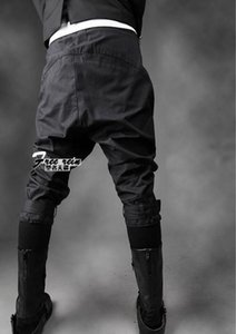 27-39 2021 Männer Kleidung Mode Männliche Capris -zellierkostüme Kegelstiefel Kürzung Jeans Plus Size Singer Herrenhose