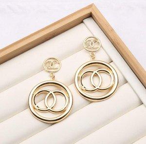 Luxury Brand Designers Earrings 18K Gold Plated Letters Charm Stud Earring Geometric Fashion Women Metal Eardrop Dangle for Wedding Party Jewelry Accessories
