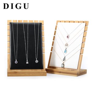 Movable Necklace Pendant Jewelry Display Stand Solid Wood Jewelry Storage Shelf Jewelry Store Window Display Props