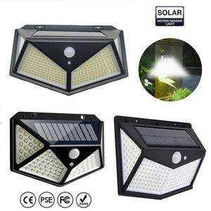300 LED Güneş Lambaları Hareket Sensörü Duvar Işık Açık Su Geçirmez Yard Güvenlik Lambası Işıklar için Bahçe Sokak Veranda