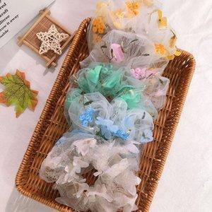 Elastisches Haar-Krawatten-Band-Kugel-Zubehör-Blumenfrucht, die für Frau Gummi transparent Headwrap-Fitness-Mädchen-Halter-Sommer-Gym Ponytail-Kopfschmuck