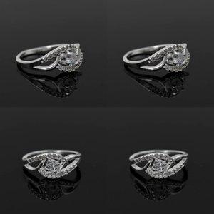 925 Sterling Silver Plating Rings Women Ladies Luxury Wedding Austrian Crystal Rings Party Dress Zircon jewelry 349 N2