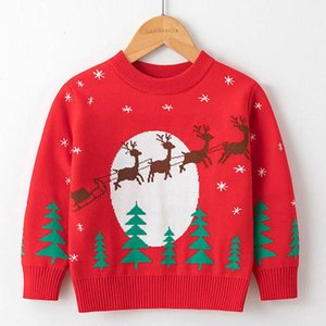 Pullover Christmas Baby Girls Boys Sweater Autumn Winter Cartoon Pattern Long Sleeve Year Children Clothes