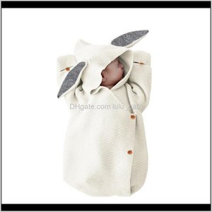 Towels Robes Born Blankets Knitted Covers Rabbit Ear Swaddling Baby Pography Bunny Style Swaddle Wrap Lj200819 Gketb Fncme