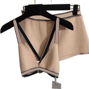 Letras vintage de punto Bikinis para mujer de moda con rayas de moda con traje de baño impreso suave cómodo ropa interior ropa interior traje de baño de moda