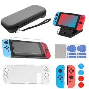 16 in 1 Accessories Kits for Switch game protection package Charging Stand Silicone Protective Case Carrying Case Screen Protector
