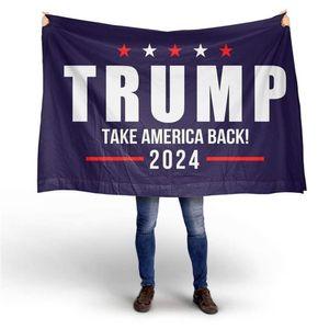 Trump 2024 Nehmen Sie Amerika zurück Black Bottom Double Gun Flag 90 * 150cm Wahlen 2024 Trumpf Flag DHL Versand