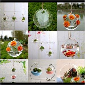 Vases Décor & Drop Delivery 2021 Details About Flower Plant Wall Hanging Clear Glass Vase Bottle Pot Home Garden Ball Decor Lb7Uz