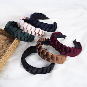 Fashion Women Hairband Cross Knot Braid Headband Adult Summer Headwear Wide Side Turban Hair Accessories