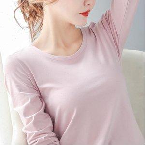 Summer Autumn Long Sleeve Cotton Womens Tops Tshirs Fashion High Quality Slim Tshirts