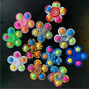 Fidget Decompression Toy Push Simple Dimple Fidgets Toys Plus 5 Sides Play Game Anti Stress Spinner Colorful