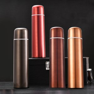 New Double-layer Bullet Shape Stainless Steel Tumbler Water Bottle Vacuum Flask Drink Bottle Coffee Mug for Travel Cup