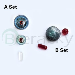 Two Styles Smoking Accessories Sets Including 10mm Ruby Pearls Quartz&Ruby Pills 14mm 20mm 22mmOD Glass Marbles For Terp Slurper Quartz Banger Nails Rigs
