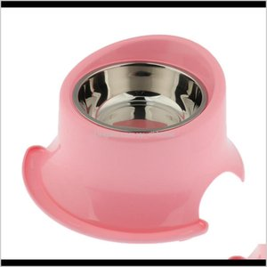Toys Chews Pet Protect Cervical Leakproof Food Bowl Stainless Steel Dog Bowls Obw53 Gpdwn