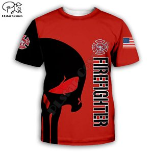 T-shirt Fireman uomo 3D T-shirt 3D stampa digitale manica corta