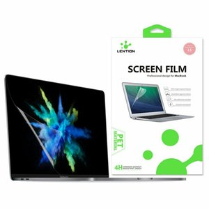 LENTION Screen Protector for 15-inch MacBook Pro (2016-2018, A1707 A1990 with Touch Bar) HD Clear Protective Film Hydrophobic Oleophobic Coating