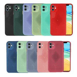 Heat Dissipating Skin-Friendly Mesh Soft TPU Phone Case Cover for iPhone 12 Mini 11 Pro Max 6 7 8 Plus XR X XS