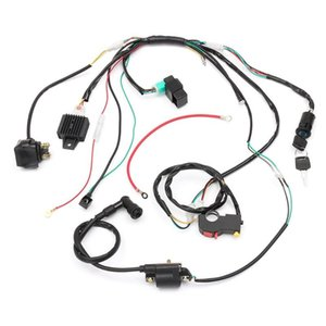 90cc 110cc 125cc Wiring Harness Loom Solenoid Coil CDI Quad Dirt Bike ATV Engine Assembly
