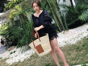 2020 fashion Oswego Brand Straw Handbag Large Capacity Woven Straw Bag Summer Travel Shopping Bohemia Rattan Shoulder Beach Bag Women