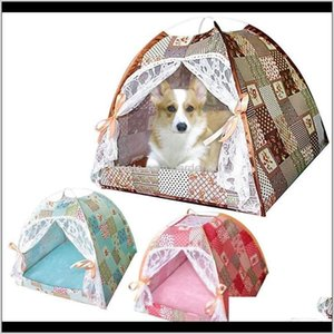 Kennels Pens House Foldable Soft Summer Breathable Tent Cat Pet Sleeping Bag Nest For Small Large Dog Puppy Drop Sv621 Mbw34