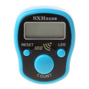 Counters Portable Wrist Digital Electronic Counter With LED Light And Sound Finger Tool