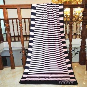 Striped Womens Beach Towels Shawl Microfiber Home Bath Towel Quick Dry Sofa Nap Portable Blanket 70*150CM