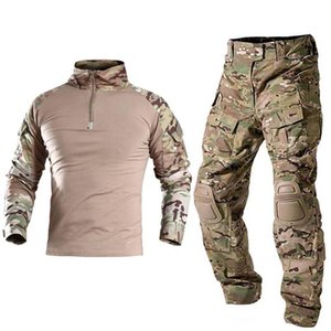 Military Uniform Tactical Combat Shirt Us Army Clothing Tatico Tops Multicam Camouflage Hunting Fishing Pants Elbow Knee Sets