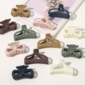 Wash Updo Hair Clamps Frosting Lacquer Varnish Convex Shape Side Hairs Claw Clips Girl Versatile Simplicity Nonslip Jaw Clip Skin Colour
