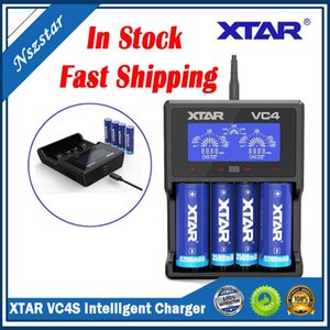 Original XTAR VC4S Chager NiMH Battery Charger with LCD Display for 10440 18650 18350 26650 32650 Li-ion Batteries Chargers