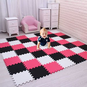 meiqicool baby EVA Foam Play Puzzle Mat  18 or 24 lot Interlocking Exercise Tiles Floor Carpet Rug for Kid,Each 30cmX30cm,1cm H0831