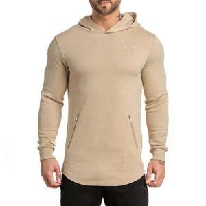 Autumn Mens Hop Hipster Hem Longline For Hoodies Shipping Hip Shirt Side Long Sleeve Men T Hooded Free Curve Ouqem