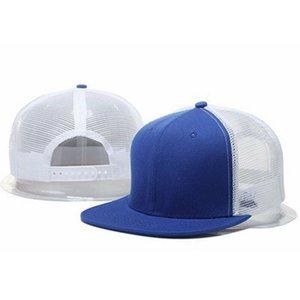 Новый модный модный привительница бейсбольная кепка унисекс сетка козырек плоский открытый солнце шляпы регулируемые шляпы колпачки мужчин