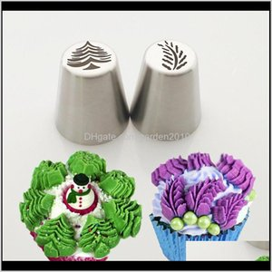 Tools Christmas Design Icing Piping Tips Stainless Steel Russian Nozzles Bakeware Cupcake Cake Decorating Pastry Baking Tool Model Seb Msvm9