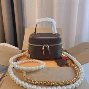 Designers Luxurys Brand Cosmetic Bag Mini Special Double Straps Women Shoulder Bags Fashion Girls Makeup Crossbody