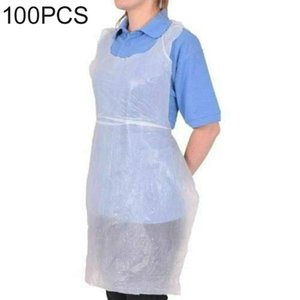 Disposable Table Covers Aprons Plastic Transparent Sanitary Cleaning Apron For Women Men Kitchen Cooking Household Daily Use