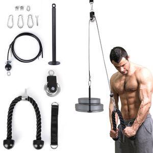 EYCI Fitness Lat and Lift Perley System، تعال مع حبل الثلاثي، تحميل دبوس لثلاث تريسبس هدم، العضلة ذات الرأسين حليقة، الظهر، الساعد، الكتف