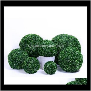 Decorations Patio, Lawn & Drop Delivery 2021 Artificial Plastic Grass Plant Ball For Garden Home Decor Wedding Christmas Bar Party Decoration