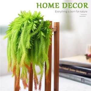 Real Touch Artificial Air Grass Green Leaves Home Outdoor Decoration Wall Hanging Plant High Quality Fake Decorative Flowers & Wreaths