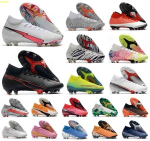 Superfly VII 7 360 Elite SE FG Flaş Crimson CR7 Ronaldo Neymar NJR Erkek Erkek Futbol Ayakkabı Futbol Çizmeler Cleats Boyutu 39-45