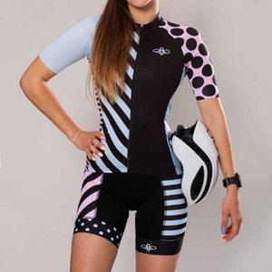 Yarış Setleri Arı Bisiklet Jersey Takım Yaz Kadın 2021 Bisiklet Ropa Ciclismo Pro Takım MTB Bisiklet Roadbike Giyim Bib Şort Kitleri