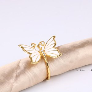 Simulation Butterfly Napkin Ring High Grade Table Decor Napkins Buckle Wedding Party Decoration Hotel Household Towel Rings FWD10068
